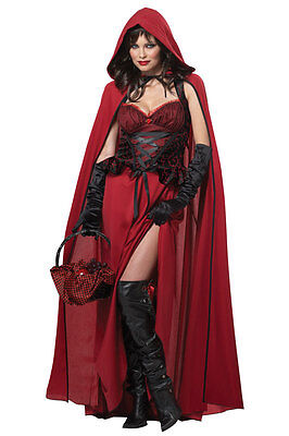 Little Dark Red Riding Hood Adult Costume