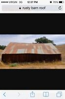 Wanted: used tin roofing/ siding