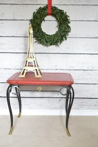 Chalk painted wrought iron tables
