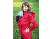 5in1 Softshell baby carrying jacket | Front & back wearing | Maternity Jacket