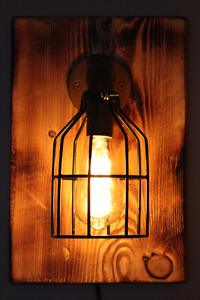 Rustic Hand Made Wall Sconce Lamp