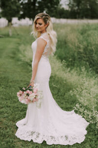Elegant and New Fit-and-Flare Lace Wedding Dress from Ballets