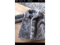 NEXT leppord print fur coat