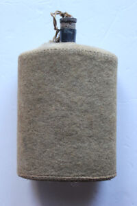 Vintage Military Felt Water Canteen (VIEW OTHER ADS)