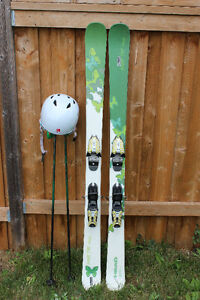 Women's Head Sweet Fat Thang Skis + Helmet and Poles