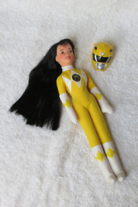 vintage 1990's POWER RANGERS doll, yellow clothes