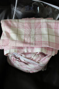 pink plaid duvet cover and pillow cases