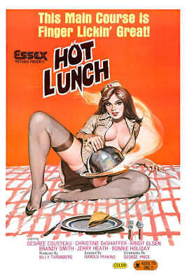 1978 HOT LUNCH VINTAGE ADULT FILM MOVIE POSTER PRINT 24x16 9MIL PAPER](Adults Hot Movies)