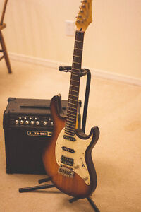 Cort G250 Electric Guitar with Line 6 Spider IV 15 Amp