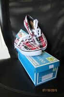 DAWGS Girls Canvas Boat Shoes Size 13 - NEW