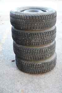 winter tires on rims 215/65R16 from dodge grand caravan 2002