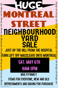 HUGE ALL MONTREAL ST. YARD SALE MAY 6 / 8AM-3PM PENTICTON
