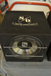 Sound Ordnance 12 inch sub in slot ported box (250 RMS)