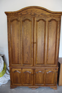 Solid Oak TV cabinet or Armoire