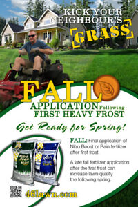 Fall Fertilizer by the Pallet