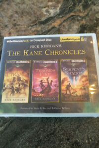 Rick Riordan CD set lot..The Kane Chronicles & Percy Jackson