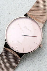 Geneva Rose Gold Adjustable Watch