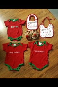 Christmas items; Sizes 0-3/0-6m & 6-9m (fits small, closer to 6)