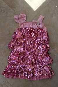 Pink sequence dance costume