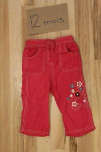 Pantalon rose - 12 mois