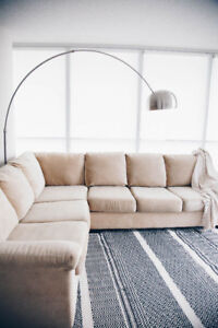 Beautiful Sectional Sofa with Pullout Sleeper Mattress