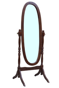 CHEVAL FLOOR MIRROR - ANTIQUE