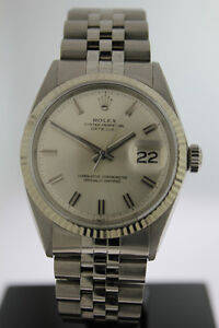 Rolex Datejust 36mm Silver Dial Jubilee Stainless Steel with 18k