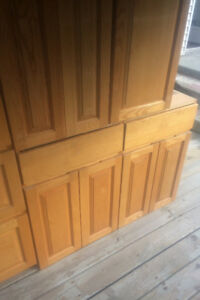 Used kitchen cabinets, oak fronts
