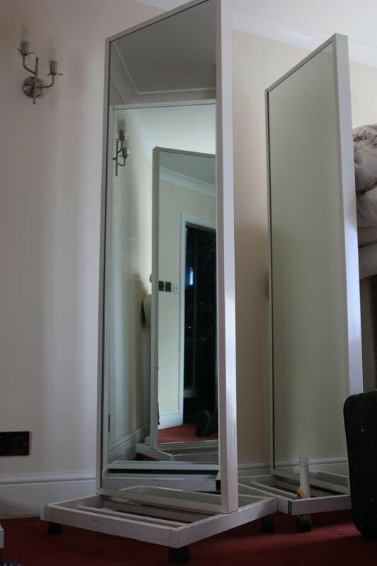 3 Full Length Large Double Sided Mirrors Commercial Or Home Use