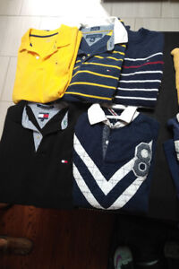 Polo and Tommy Hilfiger short and long sleeve boys shirts.