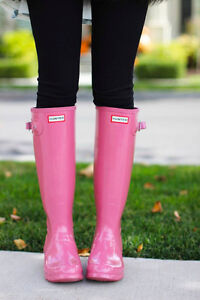 Hunter Boots:  Ladies Hot Pink , Size 8 - Authentic