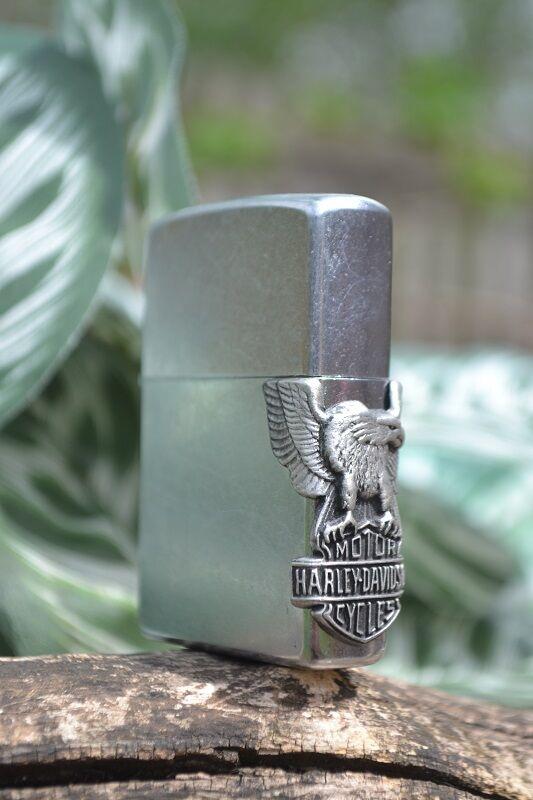 Zippo Lighter - Harley Davidson - Side Mount Eagle - Bar and Shield - 207HD H141