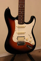 Samick Strat Style HSS Ex Cond with New Strings, Set Up, Gig Bag