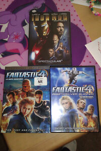 Fantastic Four 1 and 2 and Iron Man DVDS