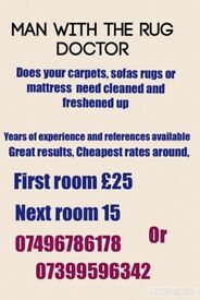 Great results cheap prices. Instead of a new carpet rug or sofa. Get the guy way the rug doctor.