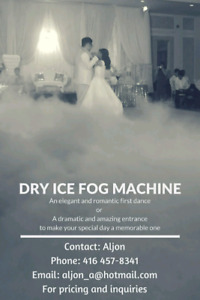 Wedding fog machine service