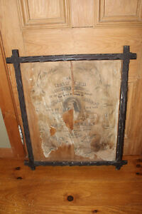 Old Large Carved Wood Picture Frame With Leaf Accents
