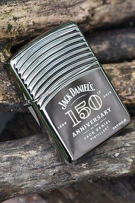 Zippo Lighter - Jack Daniels 150th Anniversary Armor - Old No. 7 - Black Ice