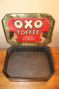 Old Large OXO Toffee Tin - Rare London Ontario image 8