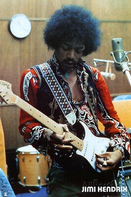 Jimi Hendrix Studio Poster Print 24x36 Rock & Pop Music