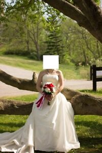 Size 14 Strapless Wedding Dress With Long Traine