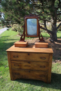 Old 3 Drawer Dresser with Mirror London Ontario image 1
