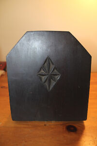 Vintage Wooden Book Holder with Chip Carving London Ontario image 3