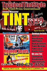 COMPLETE AUTO TINTING $139 ANY CAR CALL NOW 416-629-0726
