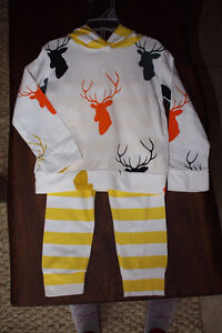 Deer/Buck baby outfit 6-12mo, unisex