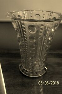 BEAUTIFUL OLD LARGE CLEAR GLASS VASE - **NEW PRICE**