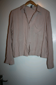 Womens size 6 pale pink shirt