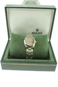 Rolex Midsize 31mm Oyster Perpetual Salmon Dial Stainless Steel