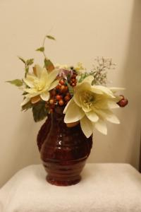 Artificial silk flowers home dcor accents calgary kijiji silk flowers in red vase mightylinksfo