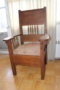 Antique Captains Chair, Unique, Front Entrance, office